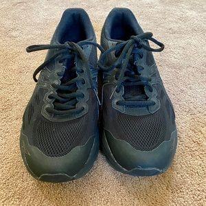 ASICS women black athletic shoes